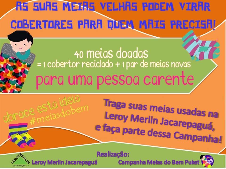 82bec5c8d54 Fim de semana solidário na Leroy Merlin Jacarepaguá