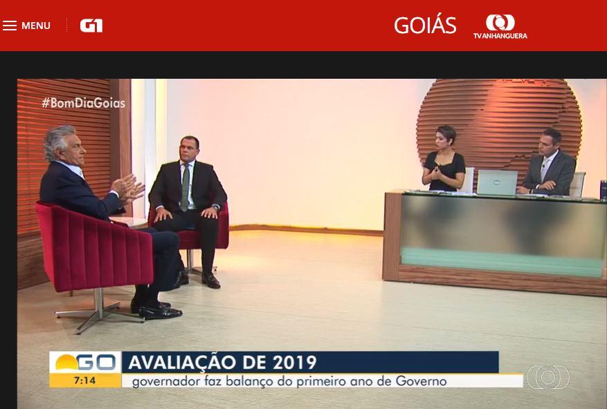 Caiado fala bem do Hutrin na Globo.