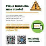 Mídia Social não é canal oficial sobre coronavírus