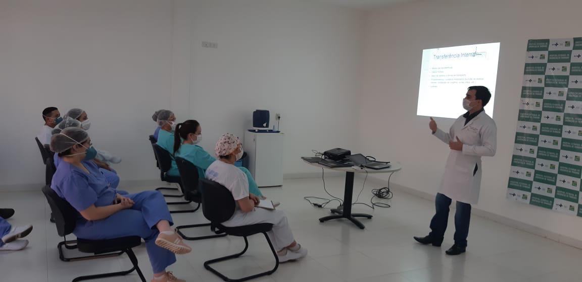 Treinamento Hutrin - Protocolo Mews. Foto: Divulgação.