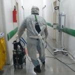Processo de pulverização eletrostática no Hutrin - Foto: Divulgação