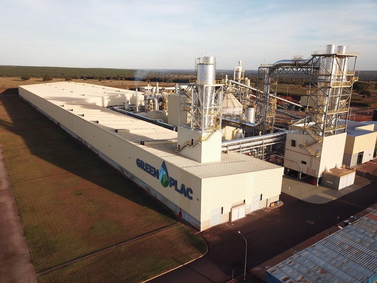 Complexo industrial Greenplac em Água Clara, Mato Grosso do Sul.