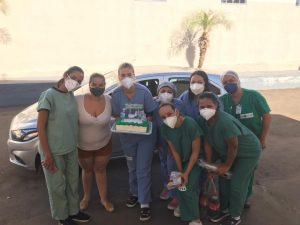 Equipe da unidade de são luís de montes belos presenteada com bolo
